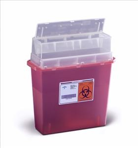 Wall Mount Sharps Container, 5qt